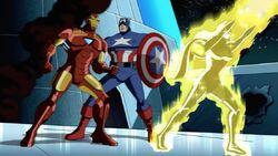 Iron Man Teases Cap About Robots AEMH