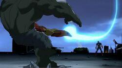 Iron Man Tackles Hulk UA