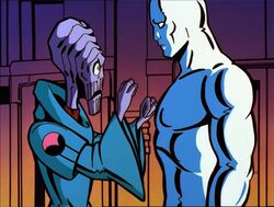 Blind Alien Pounds Silver Surfer