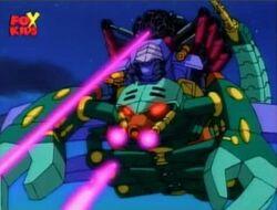 Tri-Slayer Shoots Robot Tanks