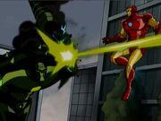Iron Man Dodges Dreadnaught Blast AEMH