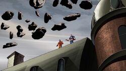 Captain America Iron Man See Flying Rocks AEMH