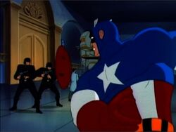 Cap Throws Shield Chateau