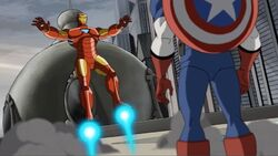 Iron Man Lands for Final Captain America Meeting AEMH