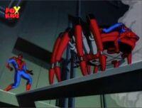 Spider-Man Crawls on Black Widows Back