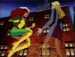 Rogue Threatens Carol Vision