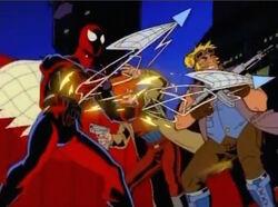 Spider-Man Shoots Webbing Spikes