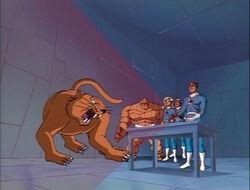 Fantastic Four See Sabertooth Hologram