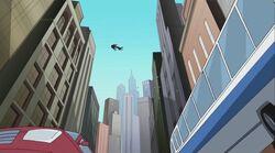 Venom Spider-Man Over Traffic SSM
