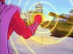 Magneto Attacks Drake Base Tanks