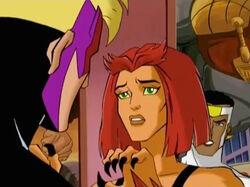 Tigra Stops Hawkeye From Attacking Falcon