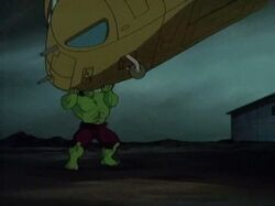 Hulk Catches Hulkbusters Helicopter