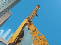 Iron Man Lifts Crane IMAA