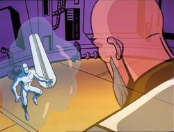 Silver Surfer Sees Master of Zenn-La Hologram