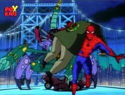 Spider-Man Flees Tri-Slayer