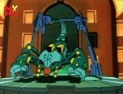 Scorpion Robot Leaves Chrysler Building