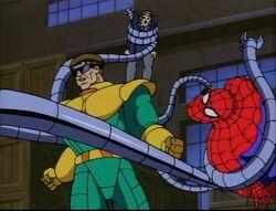 Doctor Octopus Swings Spider-Man Around
