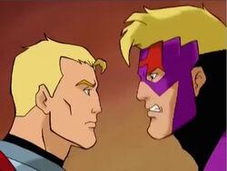 Hawkeye Argues with Hank