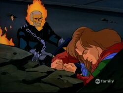 Ghost Rider Helps Rick Help Bruce