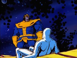 Thanos Silver Surfer Inside Mind