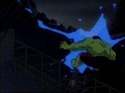 Zzzax Blasts Hulk Hoover Dam