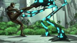 Giant Man Kicks Walker UA2