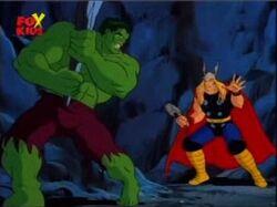 Hulk Spots Thor