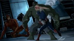 Cap Punches Hulk UA