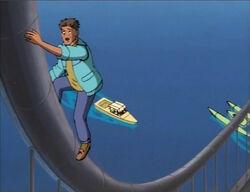 Puppet Man Climbs Bridge