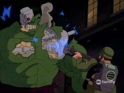 Soldier Shoots Hulk Robot
