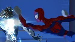 Spider-Man Punches Electro SMTNAS