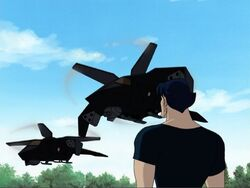 Logan Watches SHIELD Helicopters Arrive XME