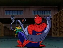 Doctor Octopus Drags Spider-Man