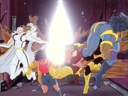 Nimrod Blasts X-Men