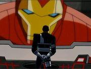 Fury Watches Iron Man Feed AEMH