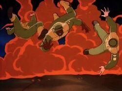 Hulkbusters Explosion Stark Battle
