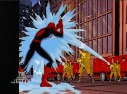 Firefighters Spray Spider-Man