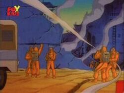 Firefighters Spray Gamma Reactor