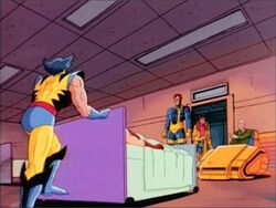 Wolverine Pushes Sabretooth Out Infirmary