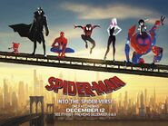 Spider-Man Into the Spider-Verse Character Banner
