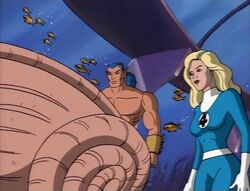 Namor Shows Invisible Woman Conch Shell