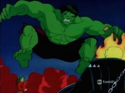 Hulk Leaps At Ghost Rider