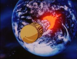 Stark Satellite Leaves Earth