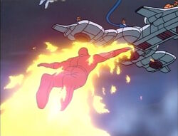 Torch-Skrull Approaches Fantasticar
