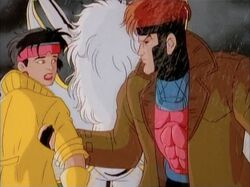 Gambit Pulls Jubilee Away from Genosha Dam Destruction
