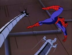 Spider-Man Dodges Doctor Octopus Tentacles Wall