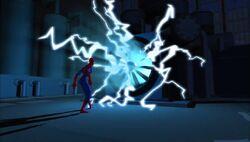Electro Fan Confronts Spider-Man SMTNAS