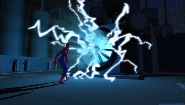 File:Electro Fan Confronts Spider-Man SMTNAS.jpg