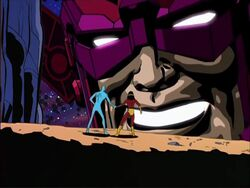 Galactus Finds Silver Surfer Shalla-Bal