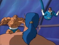 Mister Fantastic Thing Confront Namor